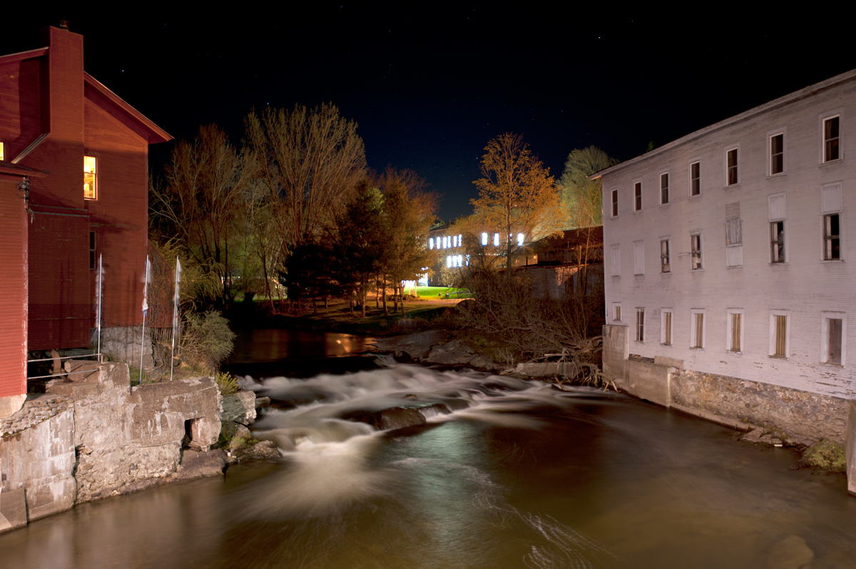 VSC Red Mill, Falls and Barbara White Studio - Night